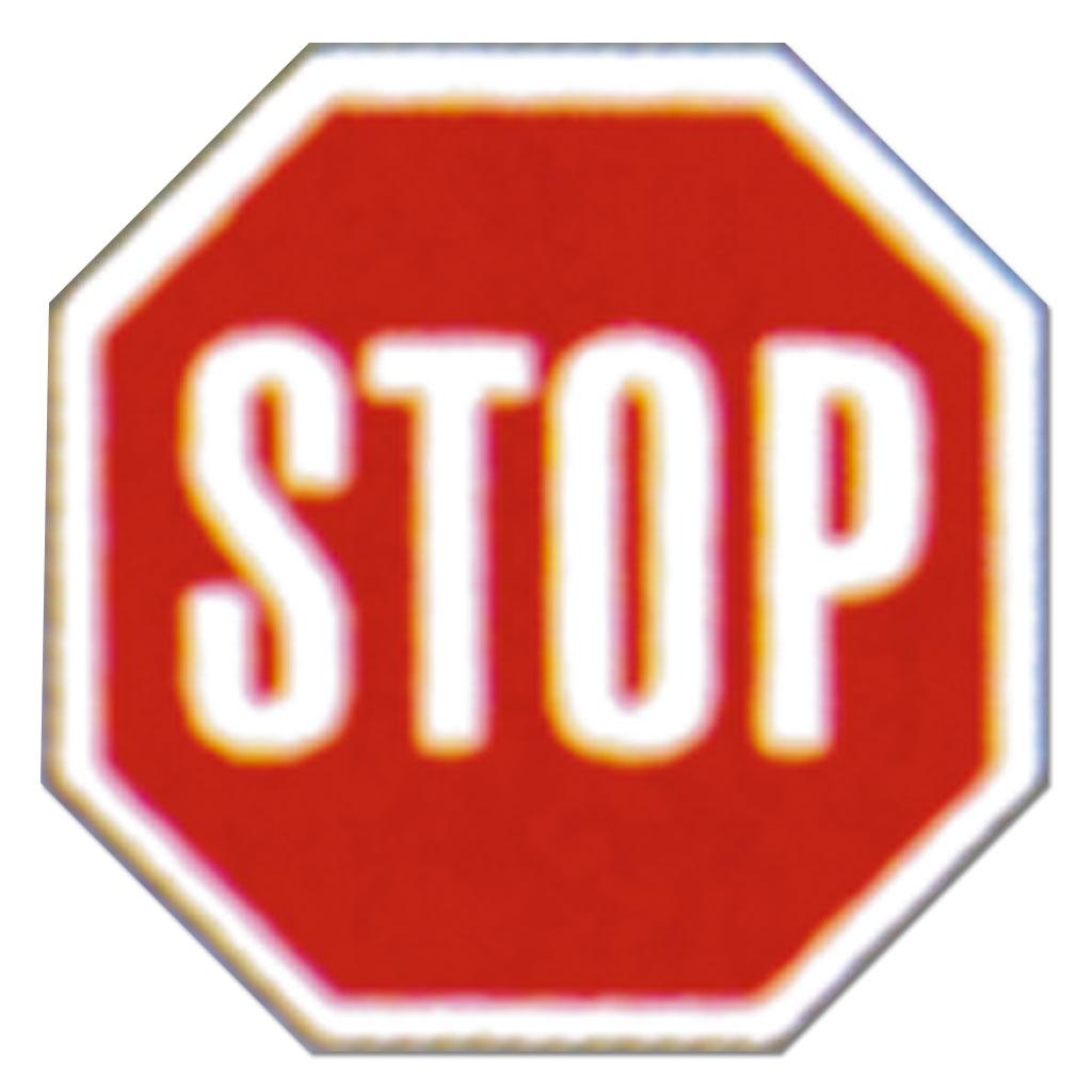 Verkehrszeichen zum Aufstellen 206