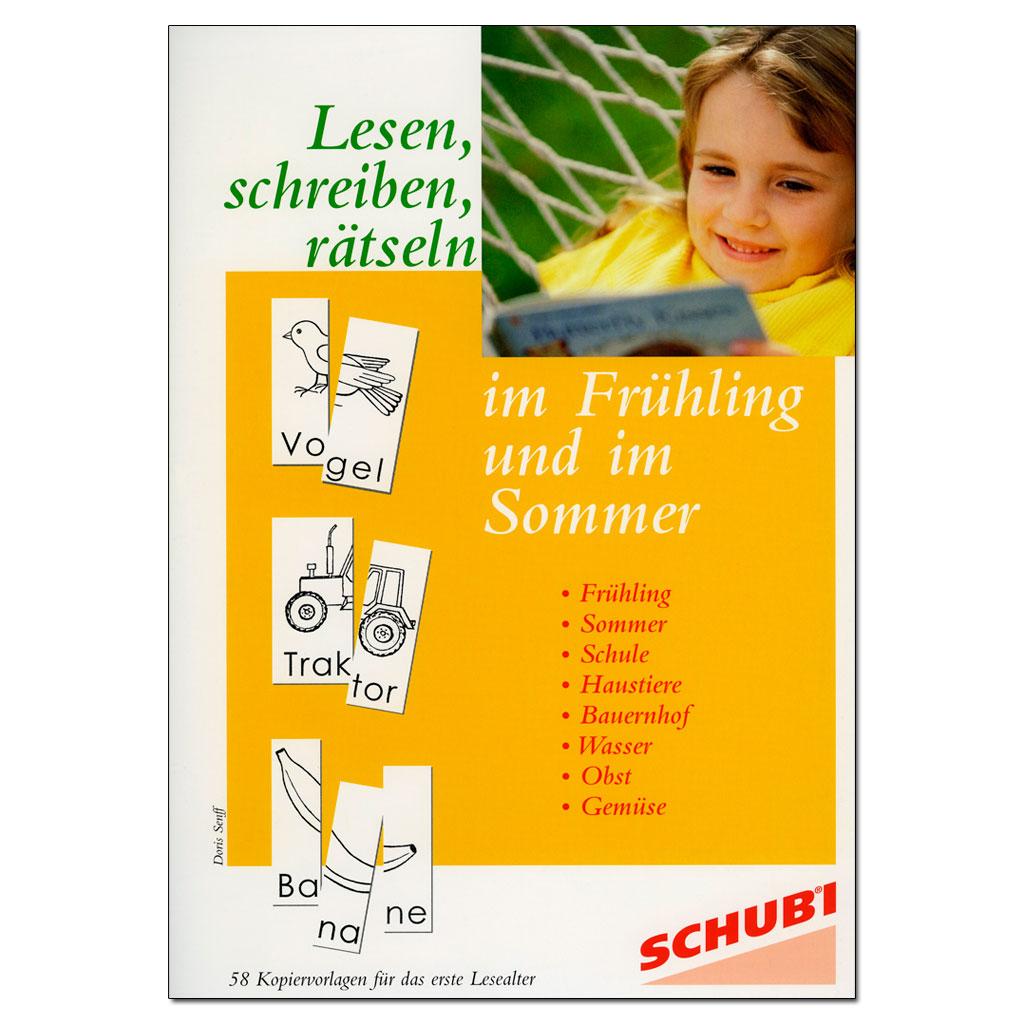 Lesen, schreiben, rätseln im Frühling und im Sommer