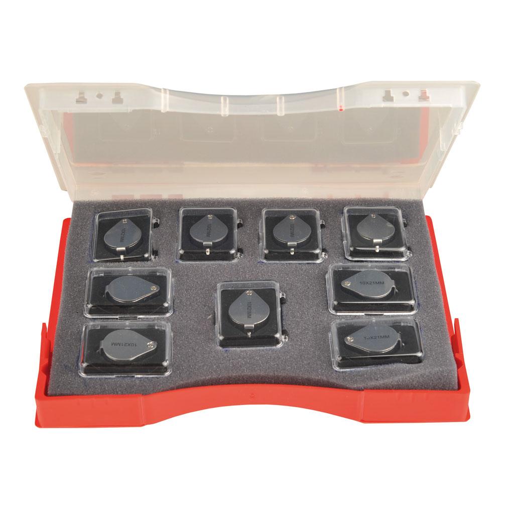 Präzisionseinschlaglupe - 9 Stück im Koffer