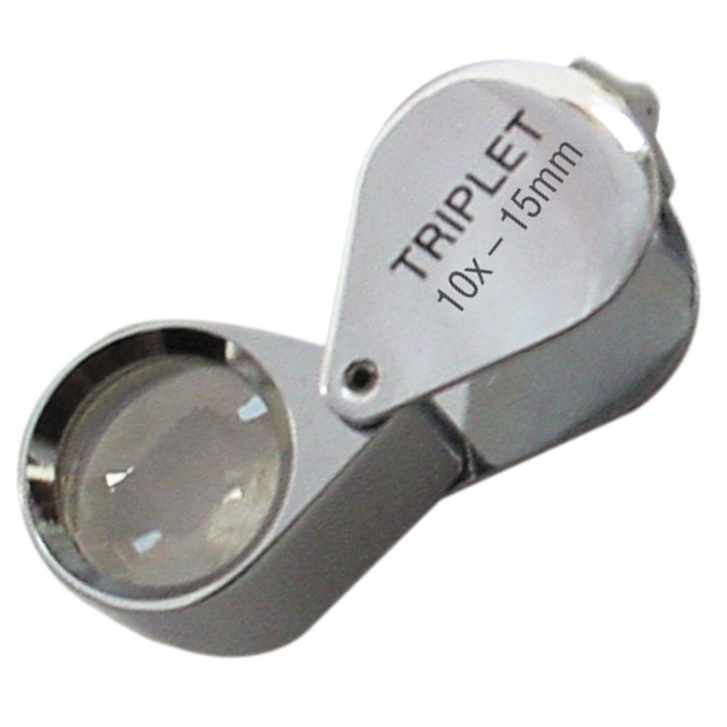 Präzisionseinschlaglupe Ø 15 mm, 10x achromatisch