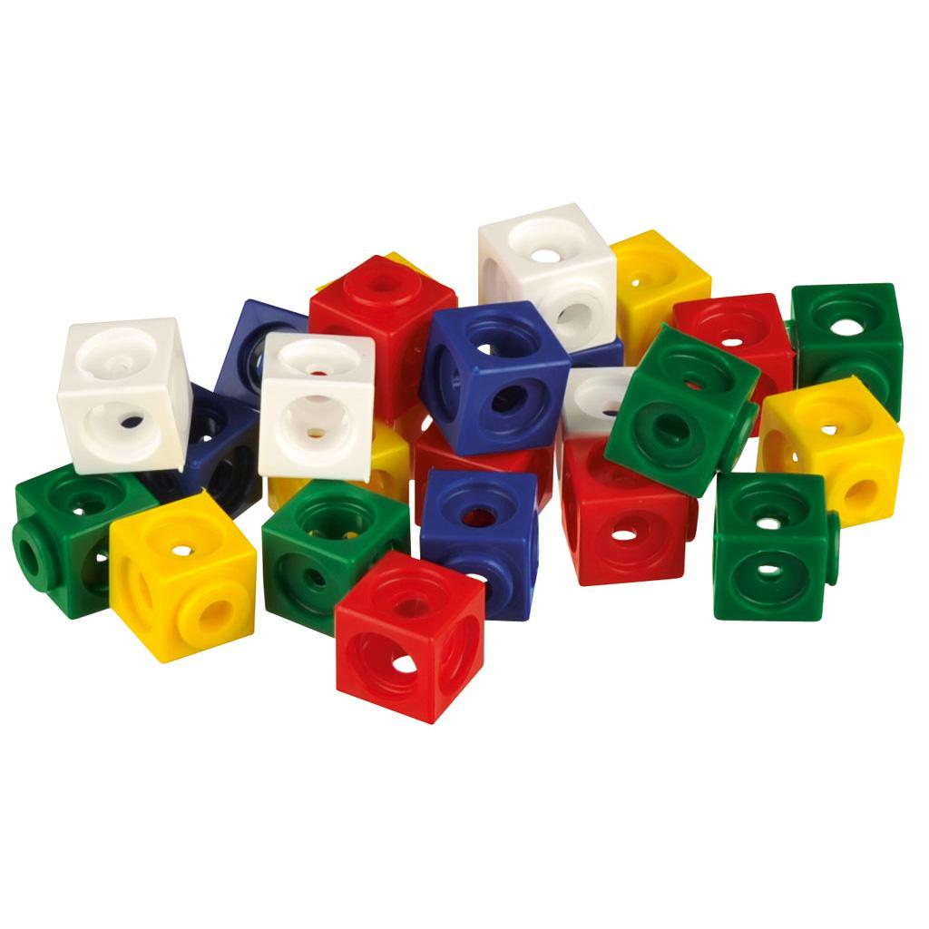 Steckwürfel – 100 Stück farblich sortiert