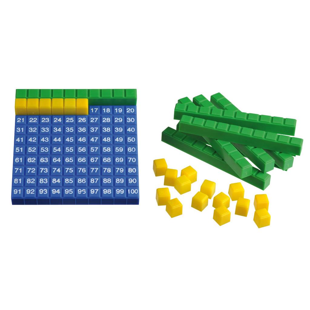 Hunderter Steckwürfelsatz in Kunststoffbox