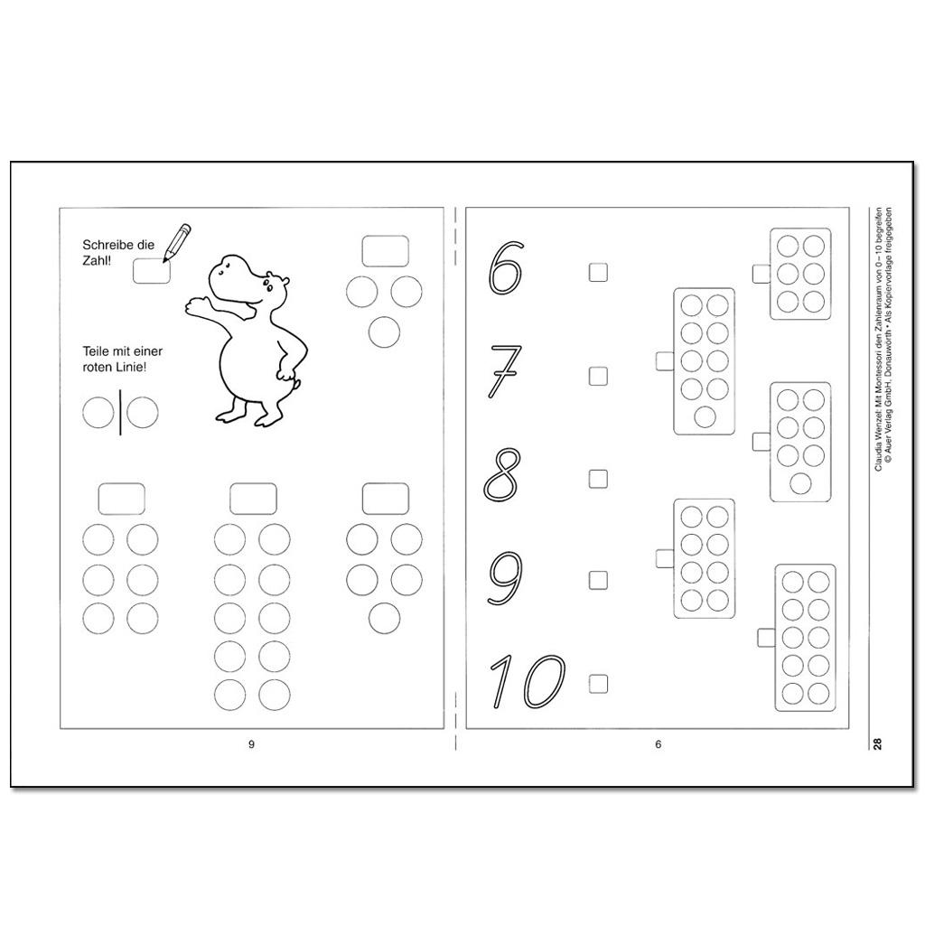 Arbeitsblätter / Montessori - hier online bestellen.