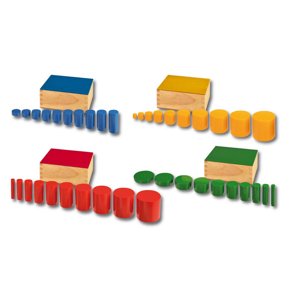 Farbige Zylinder