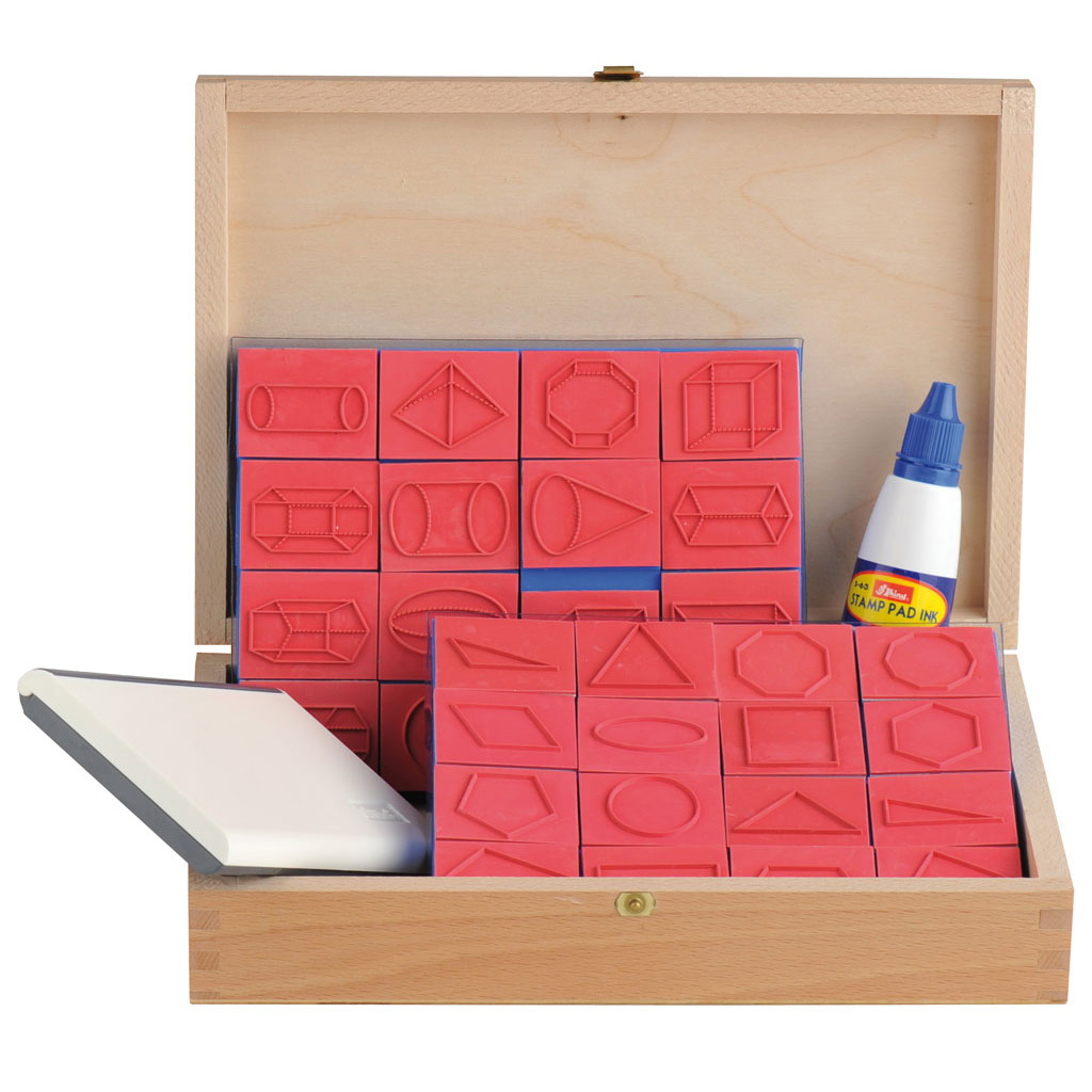 32-teiliger Stempelsatz im Holzkoffer