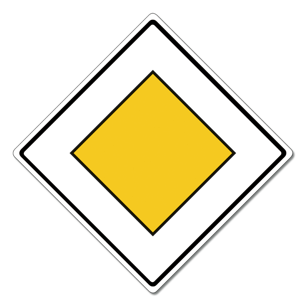 Großes Straßenverkehrsschild Nr. 306