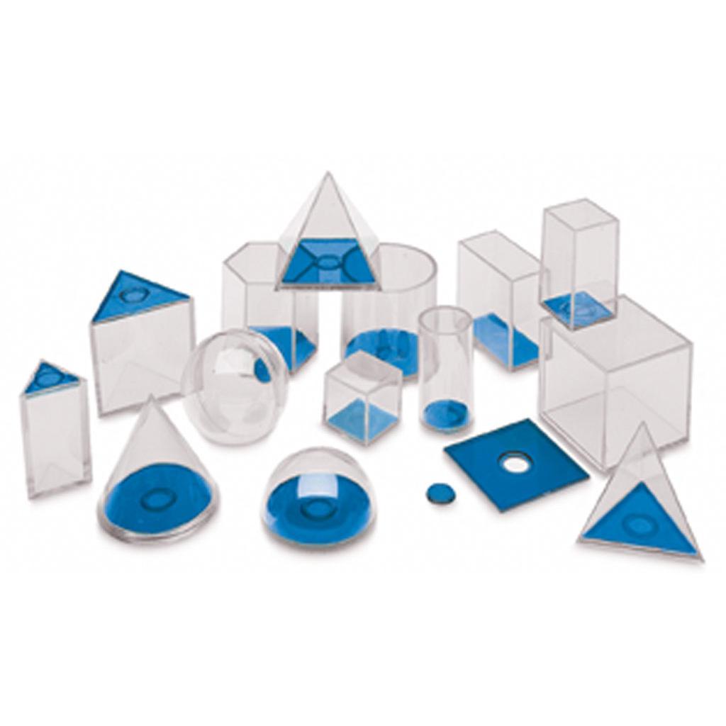 Geometrische Füllkörper - 17 Modelle aus Plexiglas