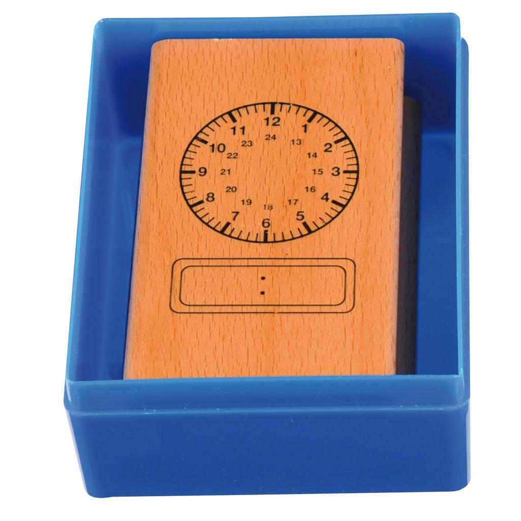 Uhrenstempel 1-24 Uhr analog/digital