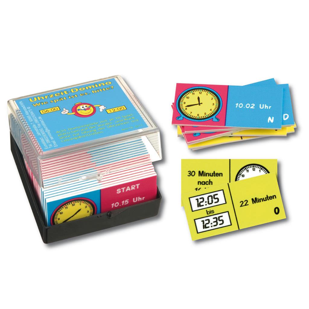 Uhrzeit-Domino - Lernspiel