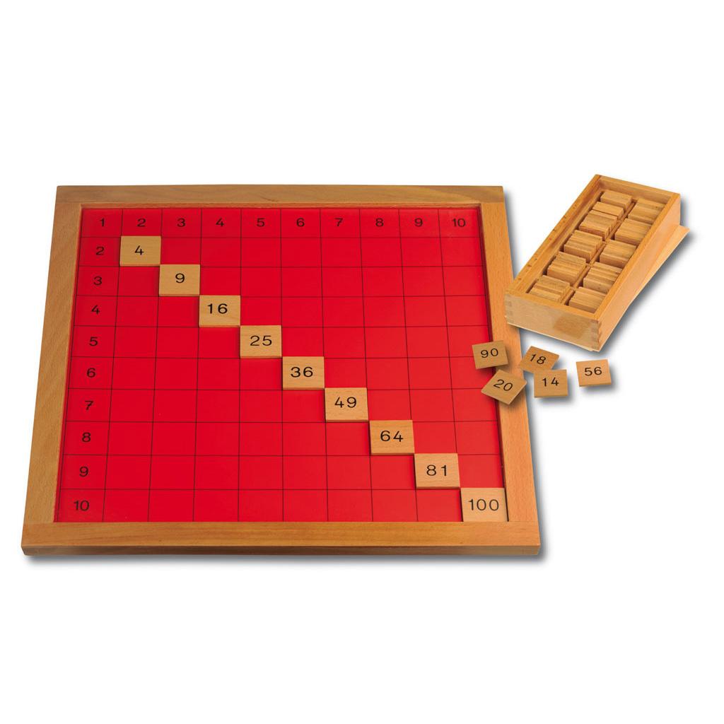 Pythagorasbrett mit Holzrahmen