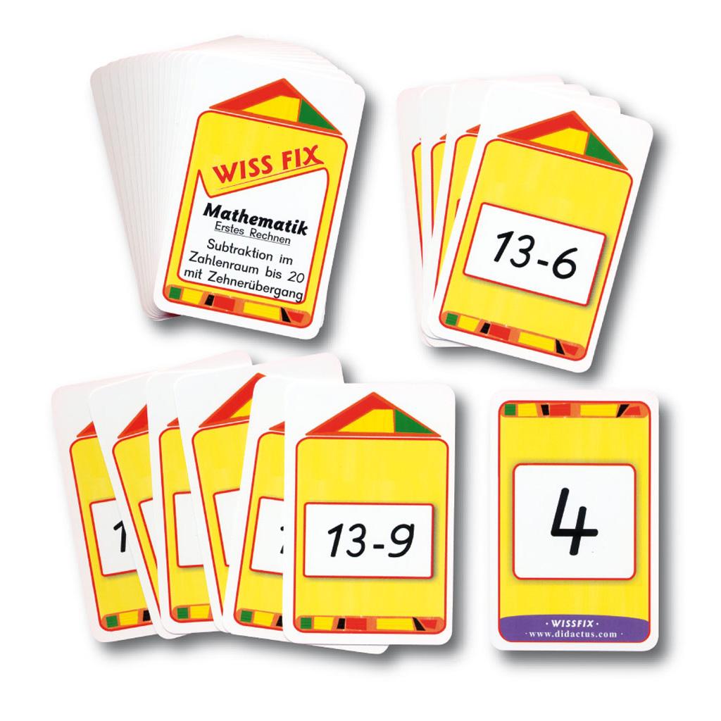 Kartensatz zum Turm Wissfix – Subtraktion bis 20