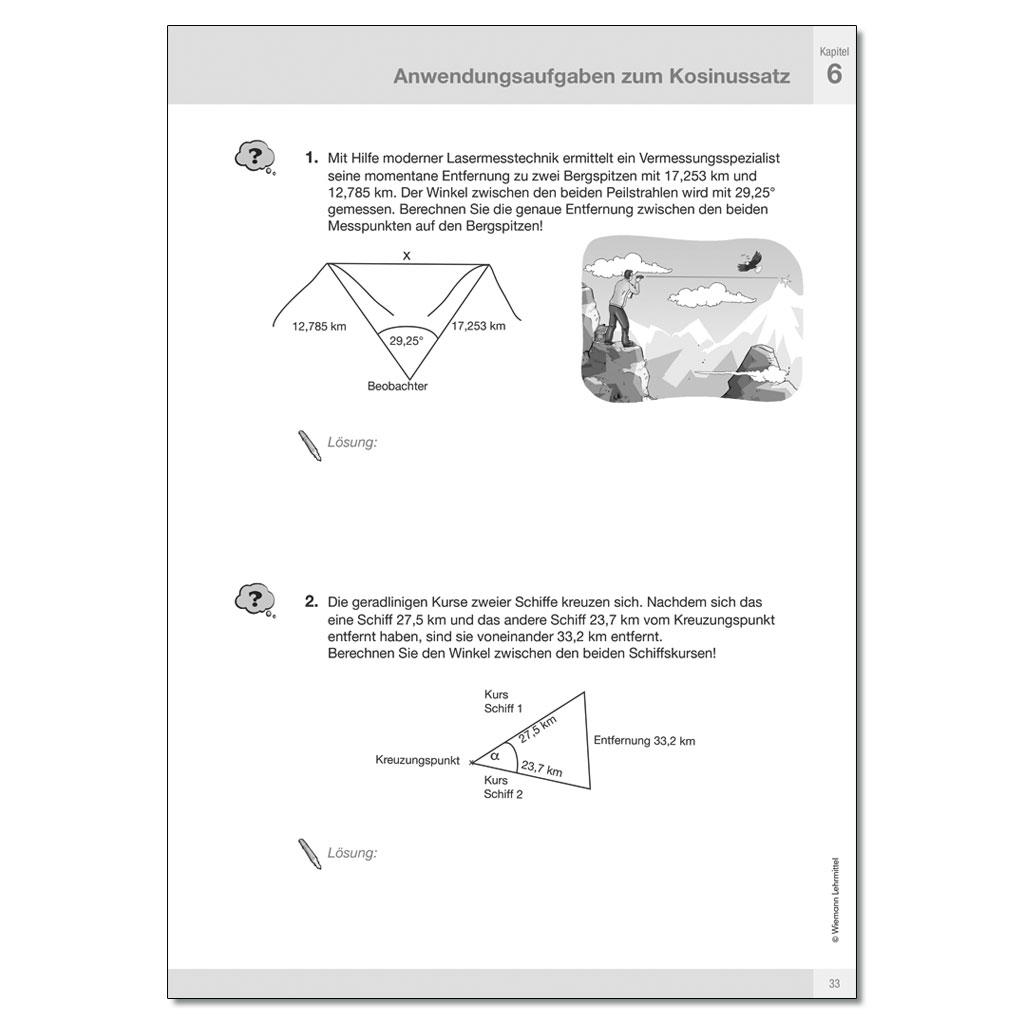 Trigonometrie - tolle Arbeitsmappe mit Lösungen