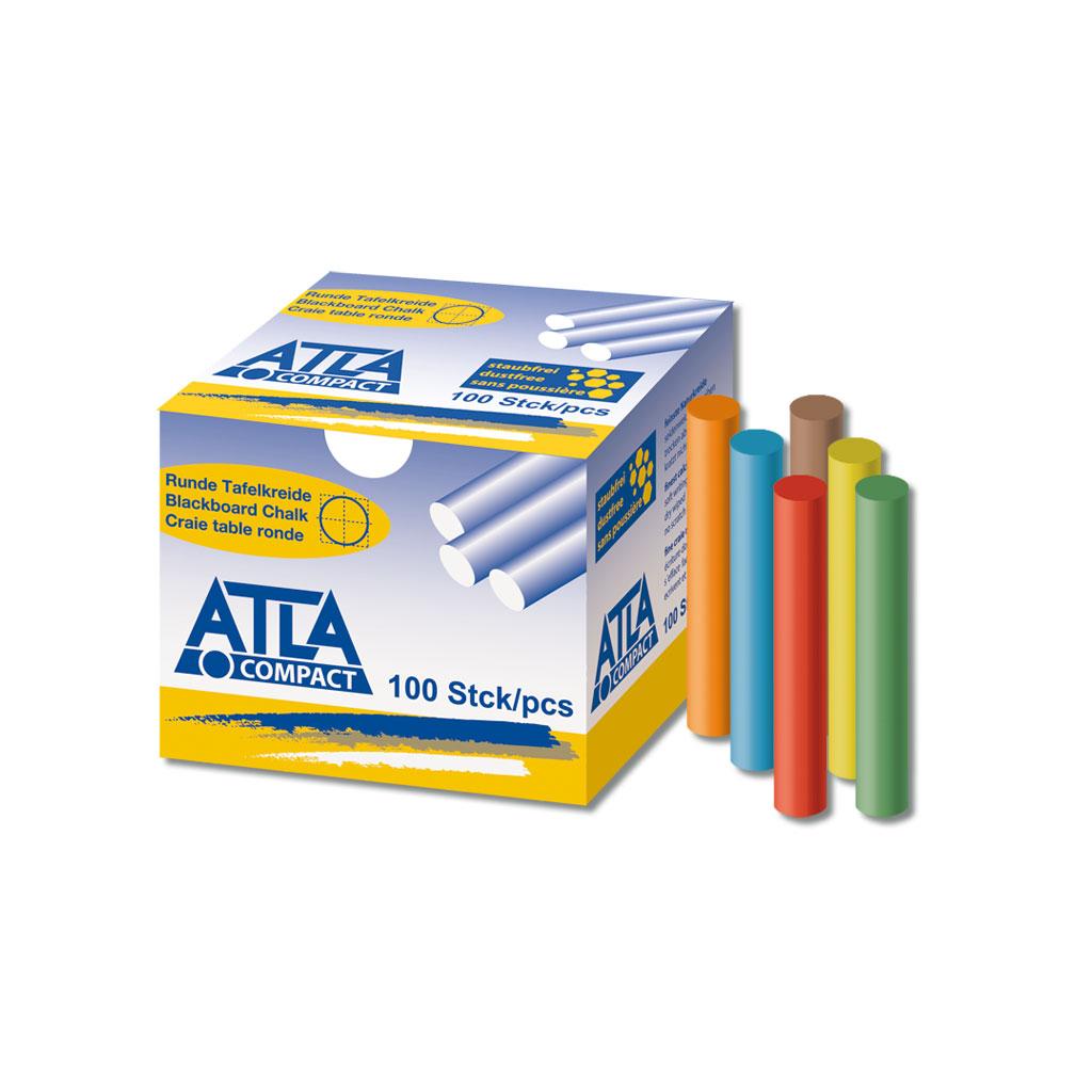 ATLA Compact Hartkreide rund- 6-farbig sortiert