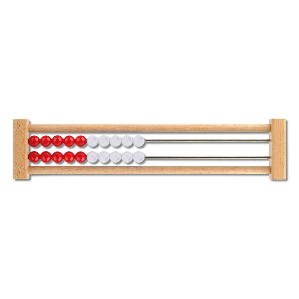 Schüler-Rechenrahmen 1-20, rot/weiß