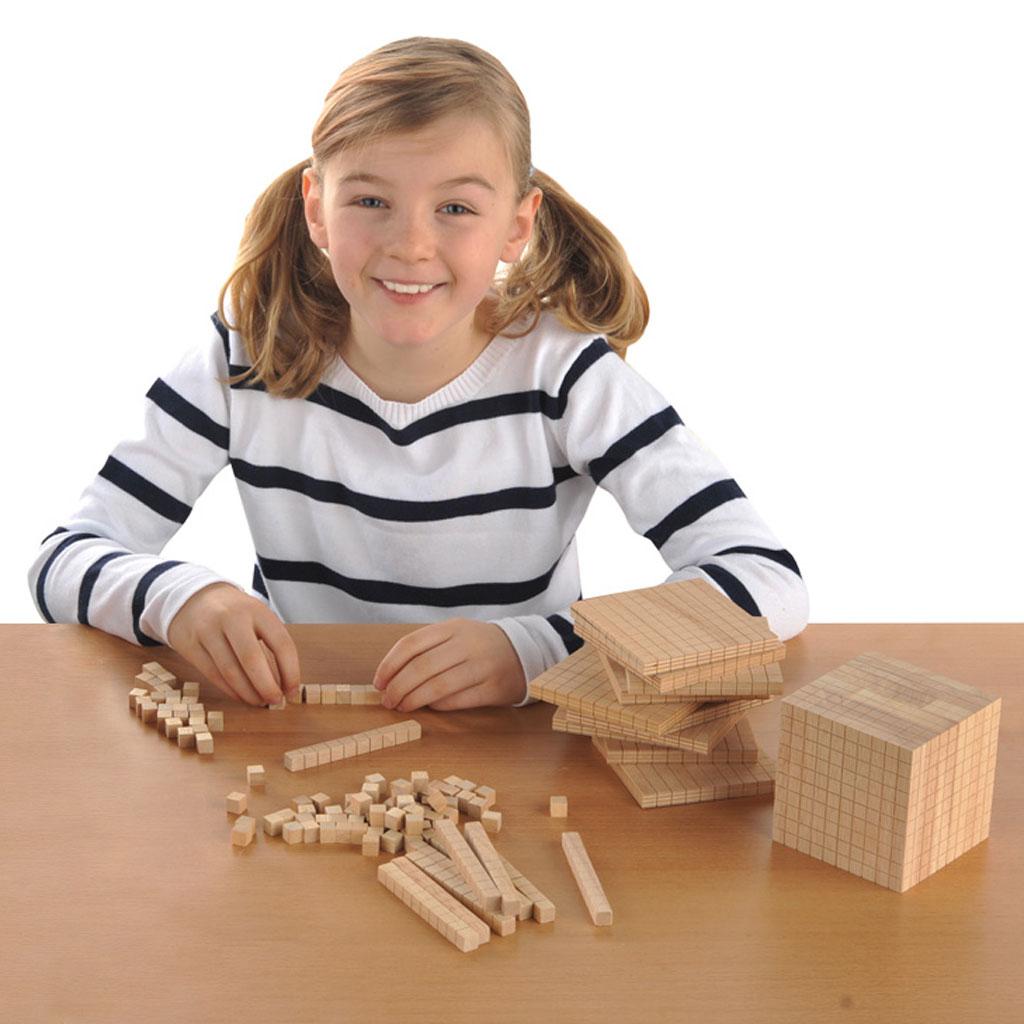 Dezimalrechnen – Kleiner Gruppensatz aus Holz