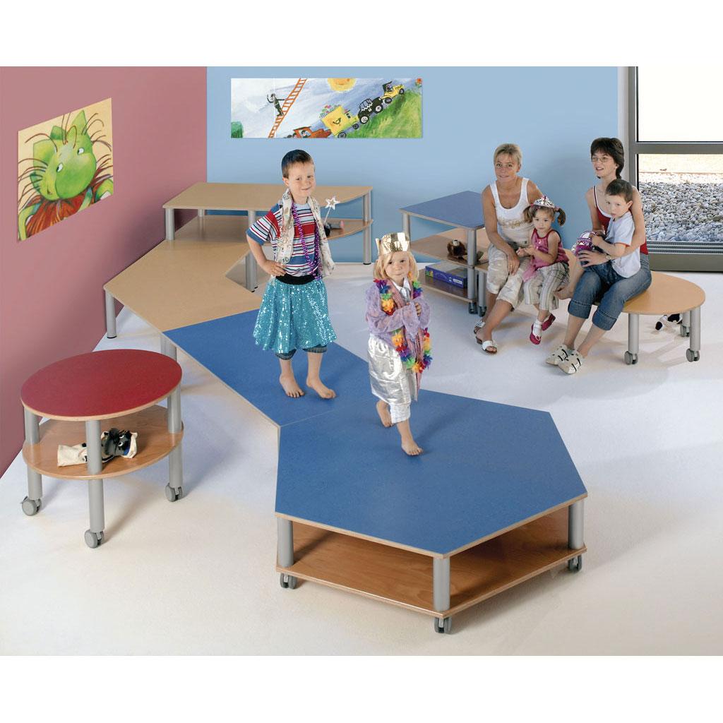 rechteck podest fahrbar blau w 41887. Black Bedroom Furniture Sets. Home Design Ideas
