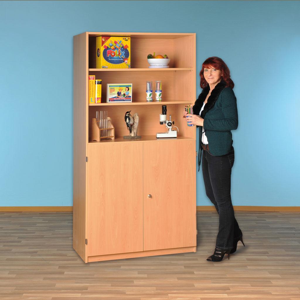 Modulus® Halbtüren-Schrank mit 2 Türen, Breite: 95 cm, 5 Böden, 5 davon verstellbar