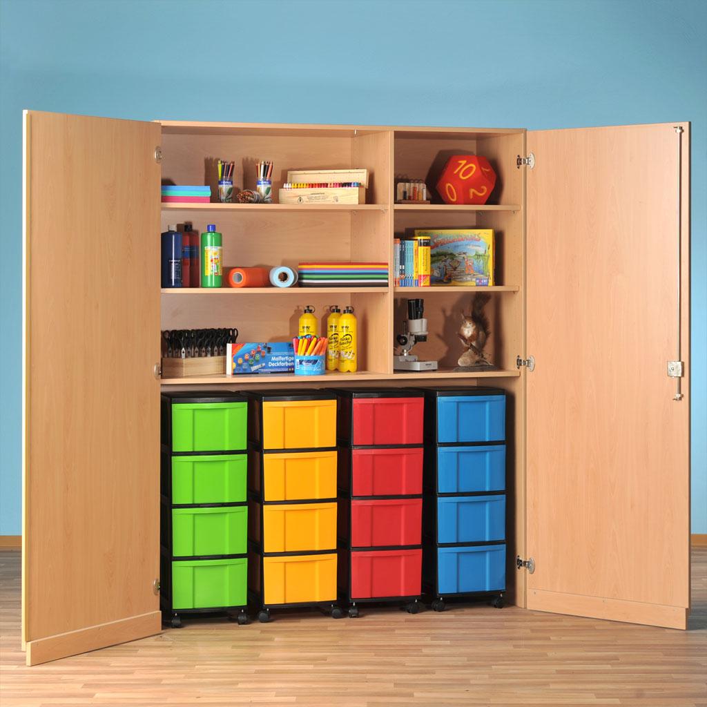 Modulus® Garagenschrank mit 16 großen Schubladen und 4 verstellbaren Ablageböden