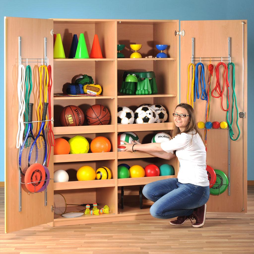 Modulus Großer Sport- und Spielschrank - mit Gerätehaken
