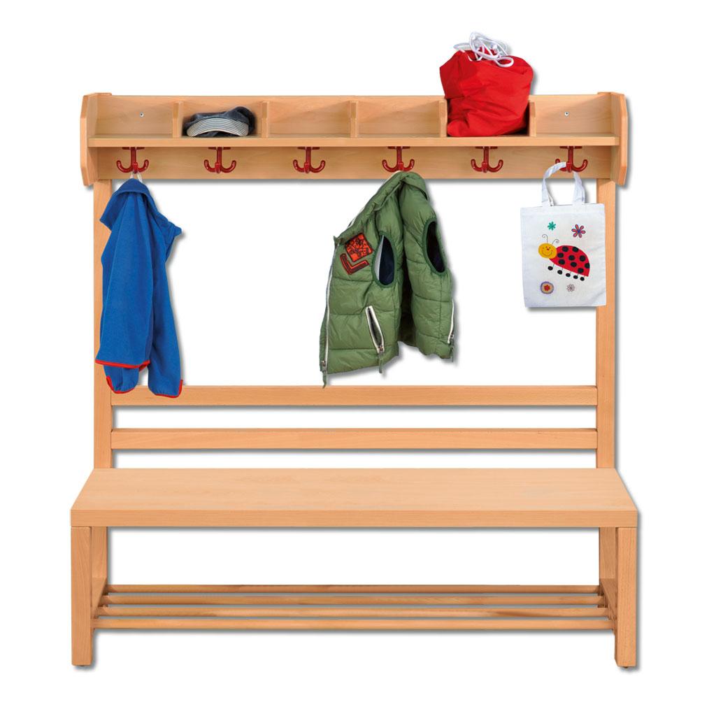 riesenauswahl an garderobenb nken f r die kita im wl versand. Black Bedroom Furniture Sets. Home Design Ideas