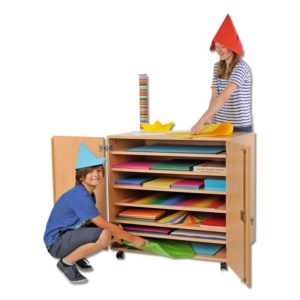 Modulus Papierschrank mit Rollen