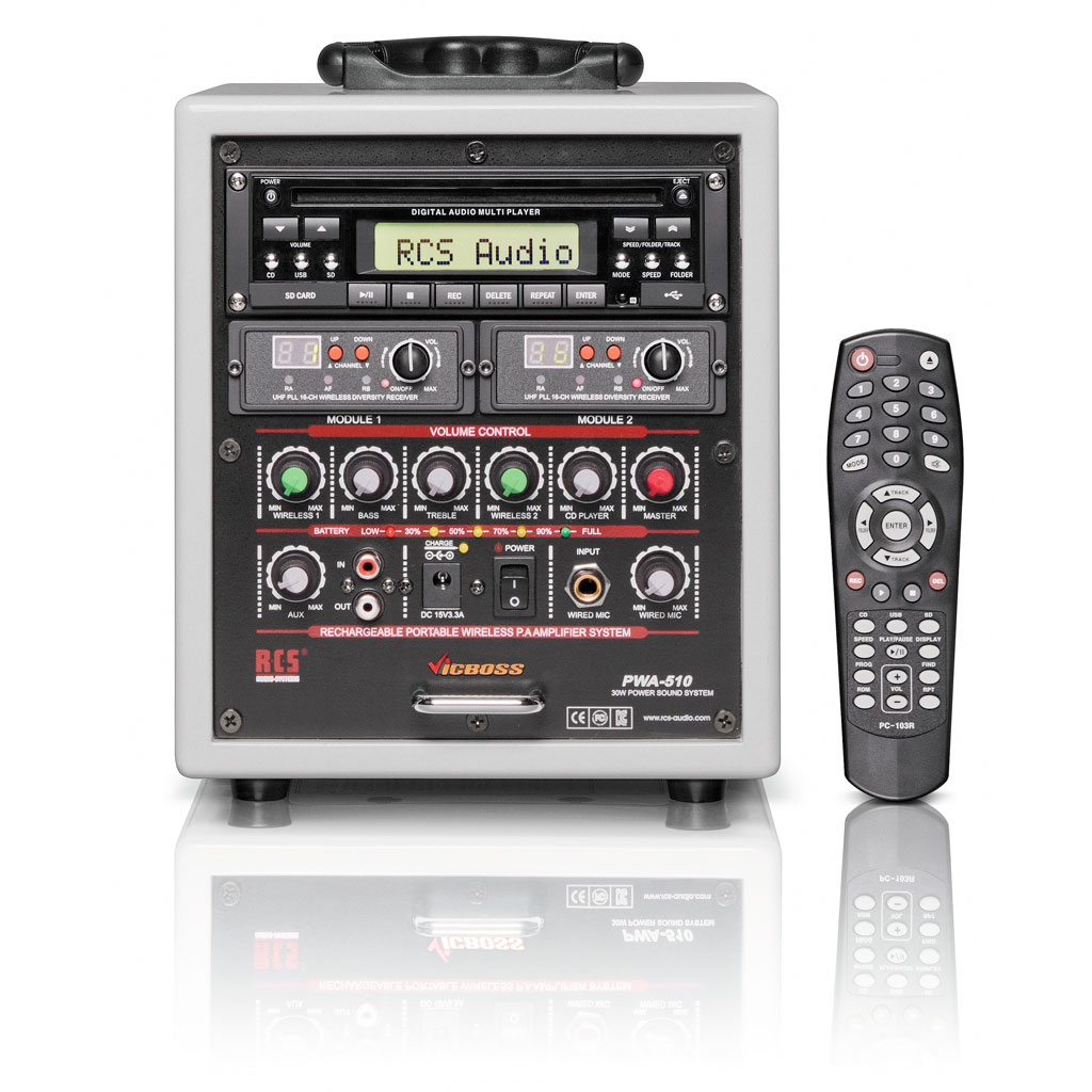 RCS Sound Center PWA-510S4 Funk - mit Akku
