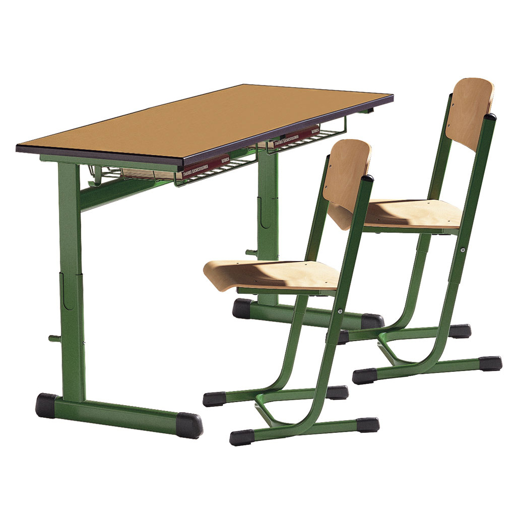Schultisch maße  Zweier-Schülertische, Modell TH mit PU-Kanten-W-4439