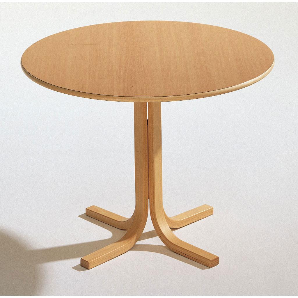 Runder Tisch mit Kreuzfuß