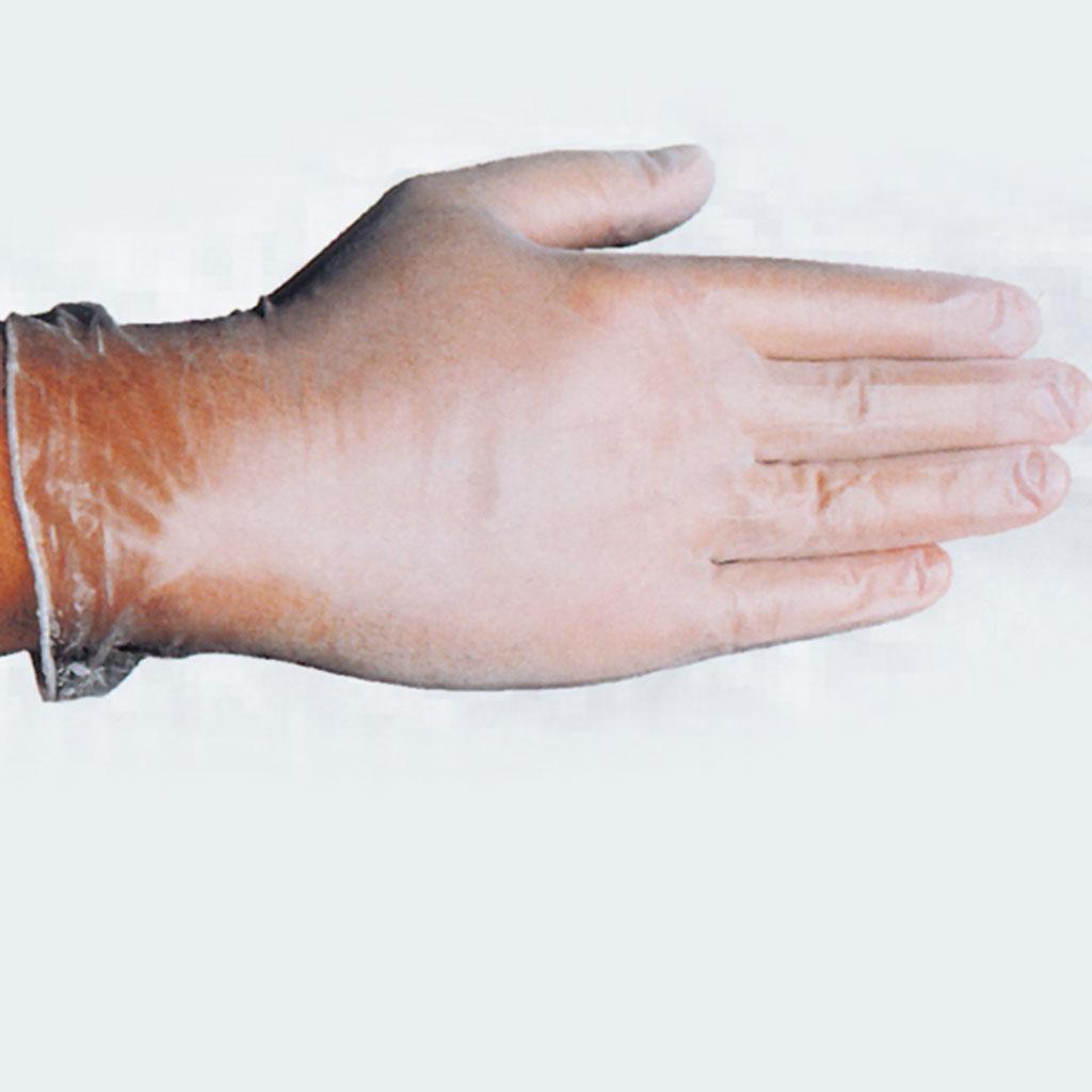 Einmal-Handschuhe aus Vinyl, in 2 Größen