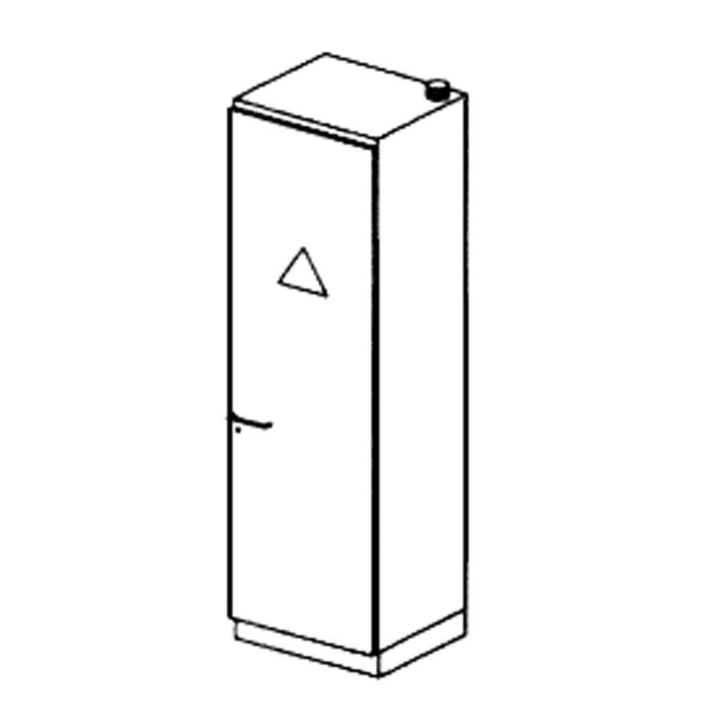 Chemikalienschrank ohne Ventilator - Anschlag rechts