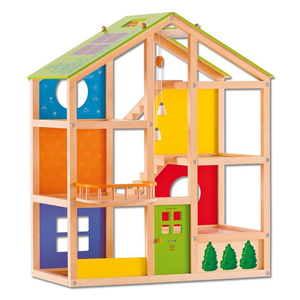 Puppenhaus aus Holz - ohne Einrichtung