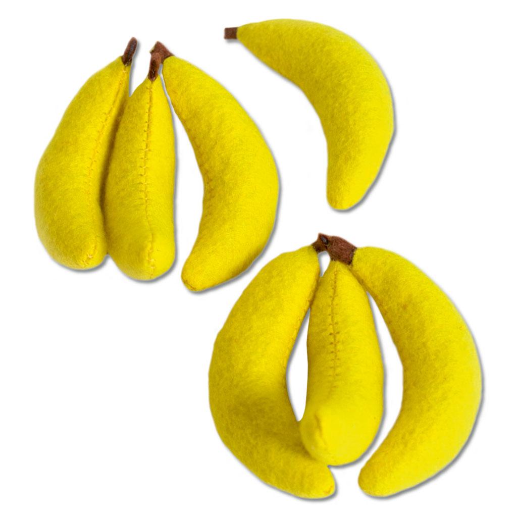 7 Stück Filz Bananen
