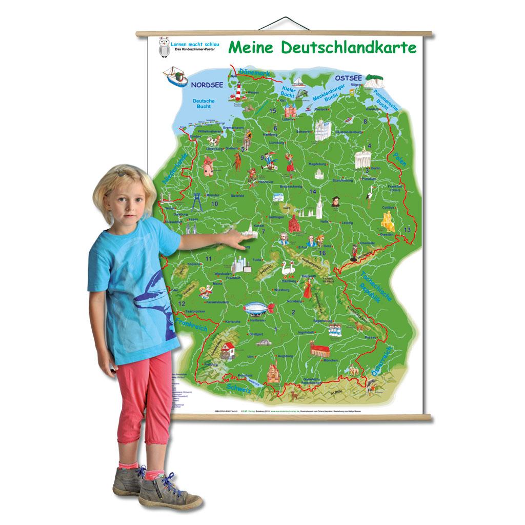 meine deutschlandkarte Meine Deutschlandkarte   Wiemann Lehrmittel.de