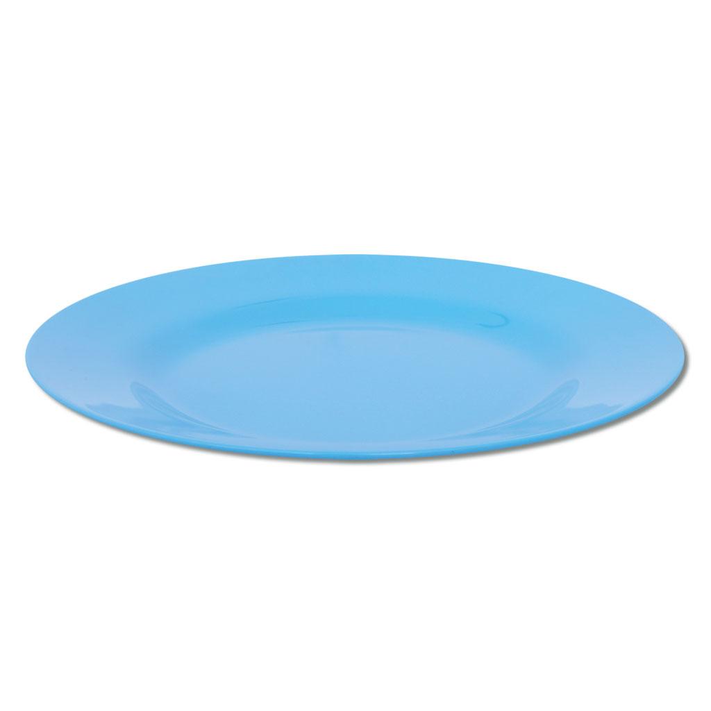 Knirpsengedeck - Teller flach groß (blau)