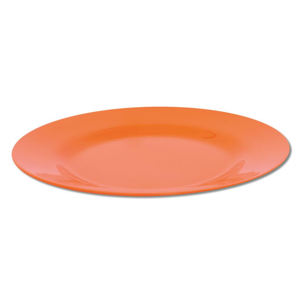 Knirpsengedeck - Teller flach groß (orange)