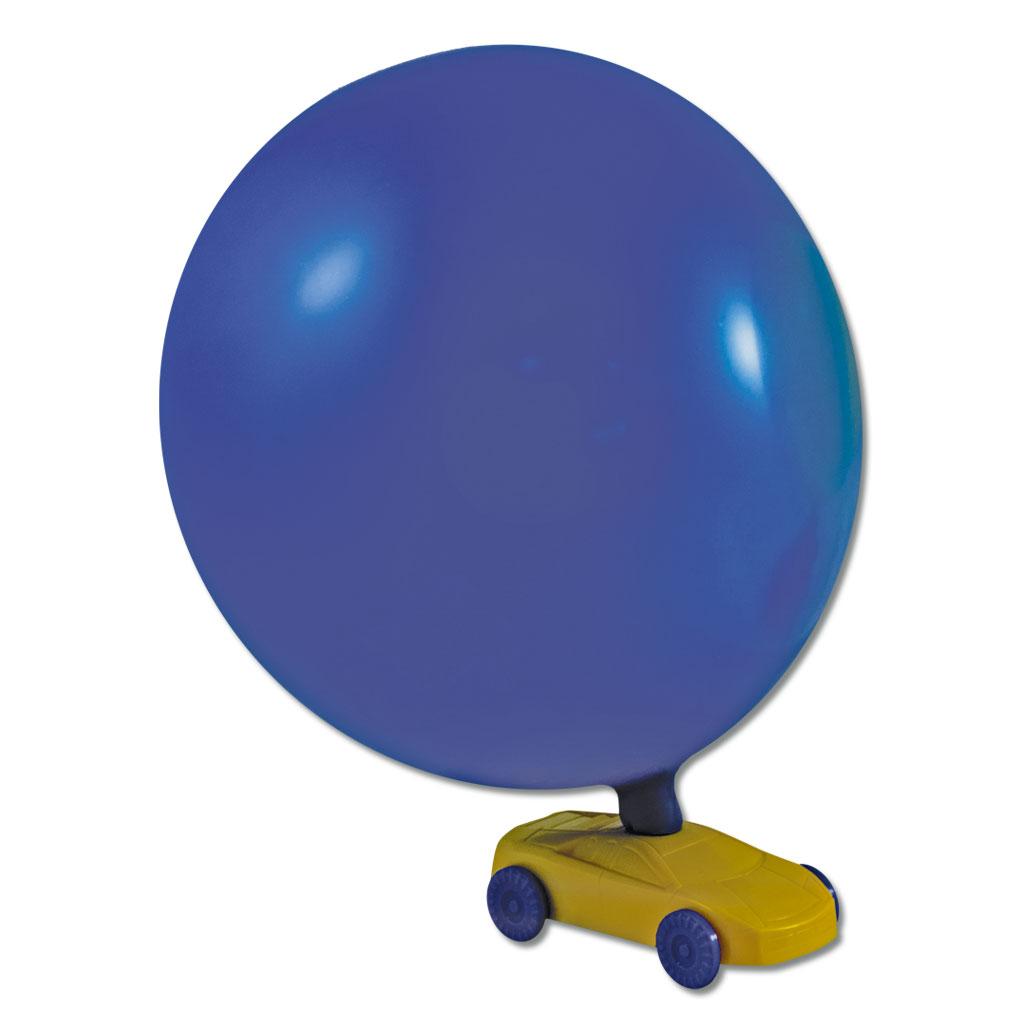 Kunststoffauto mit 2 Luftballons
