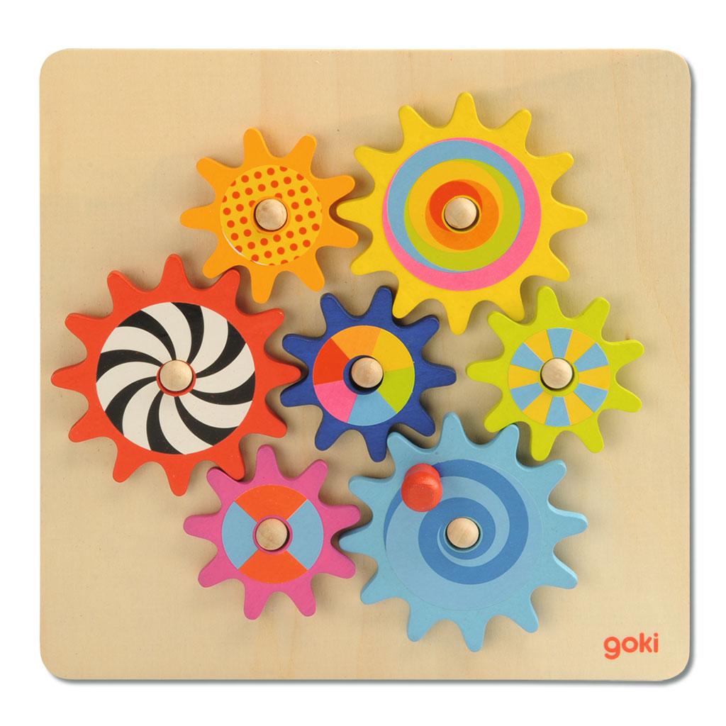 Zahnradspiel mit vielen bunten Farben
