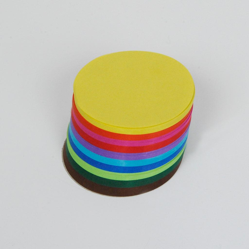 Faltblätter, Papier - rund
