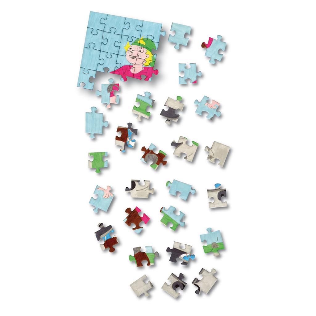Blanko-Puzzle zum Selbstgestalten