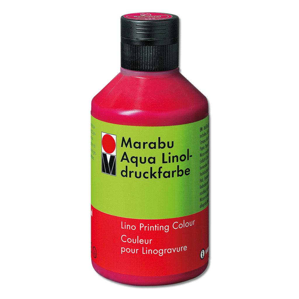 Marabu-Aqua-Linoldruckfarbe, karminrot