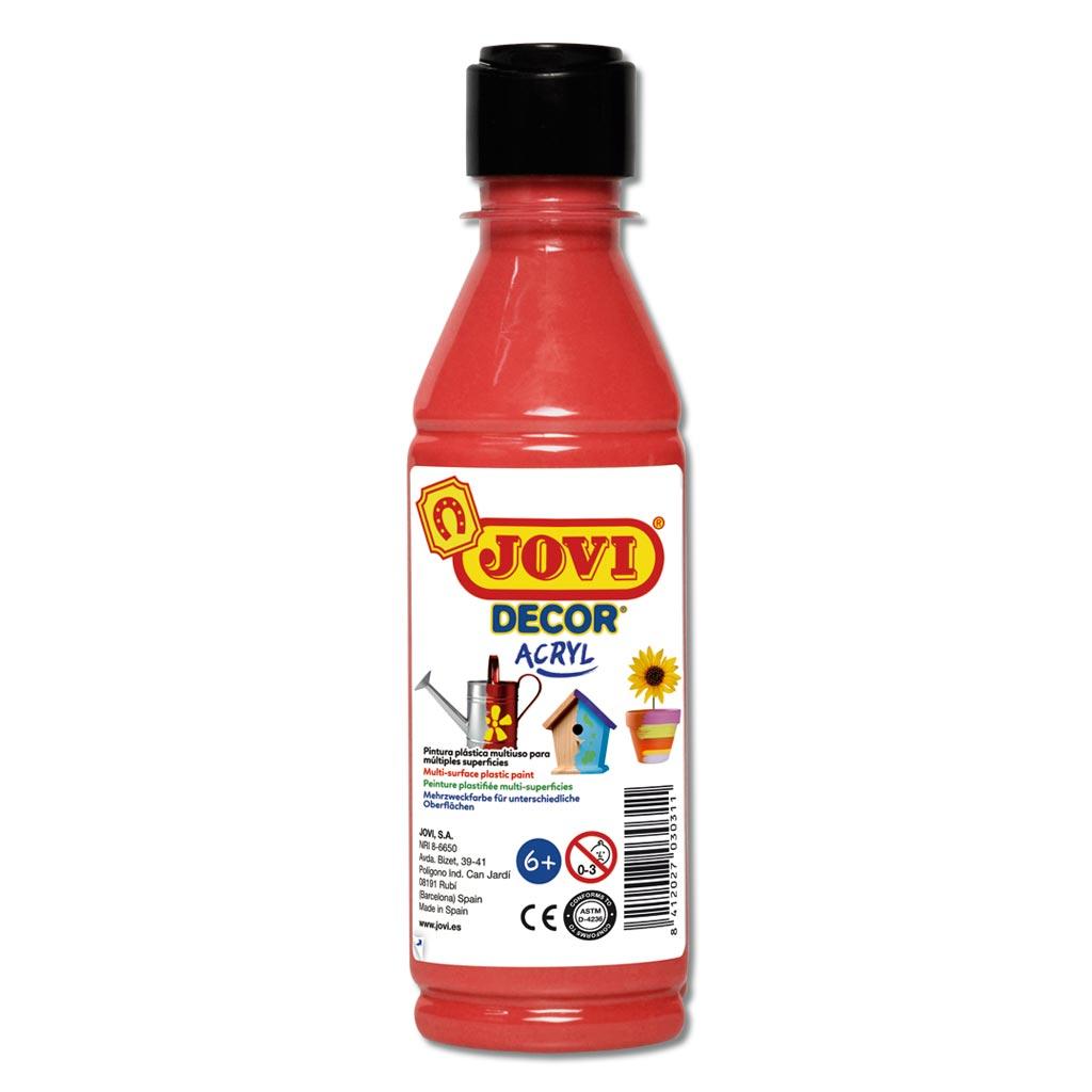 Jovi-Dekor 250 ml Kunststoff-Flasche - rot