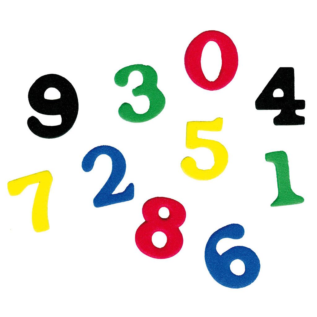 Moosgummi-Stanzteile - Zahlen