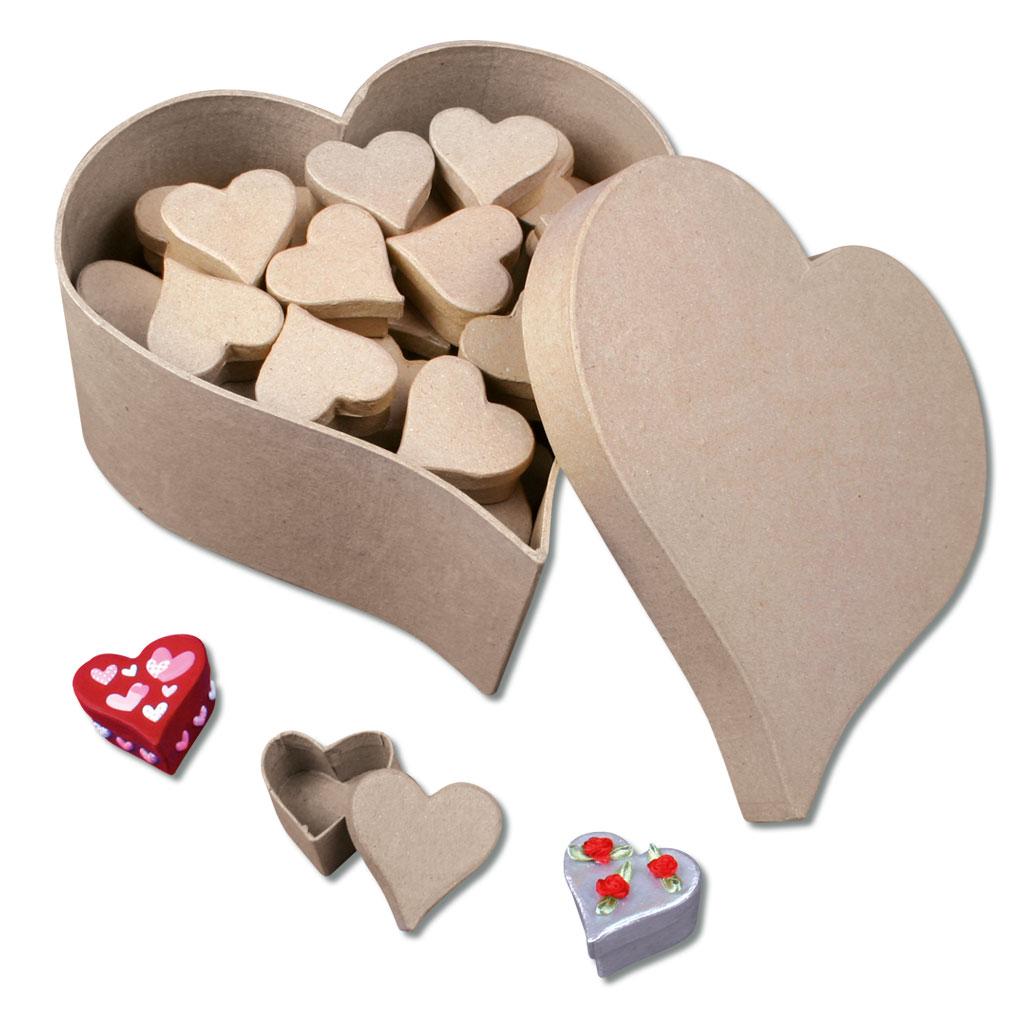 Herzdosen als Set