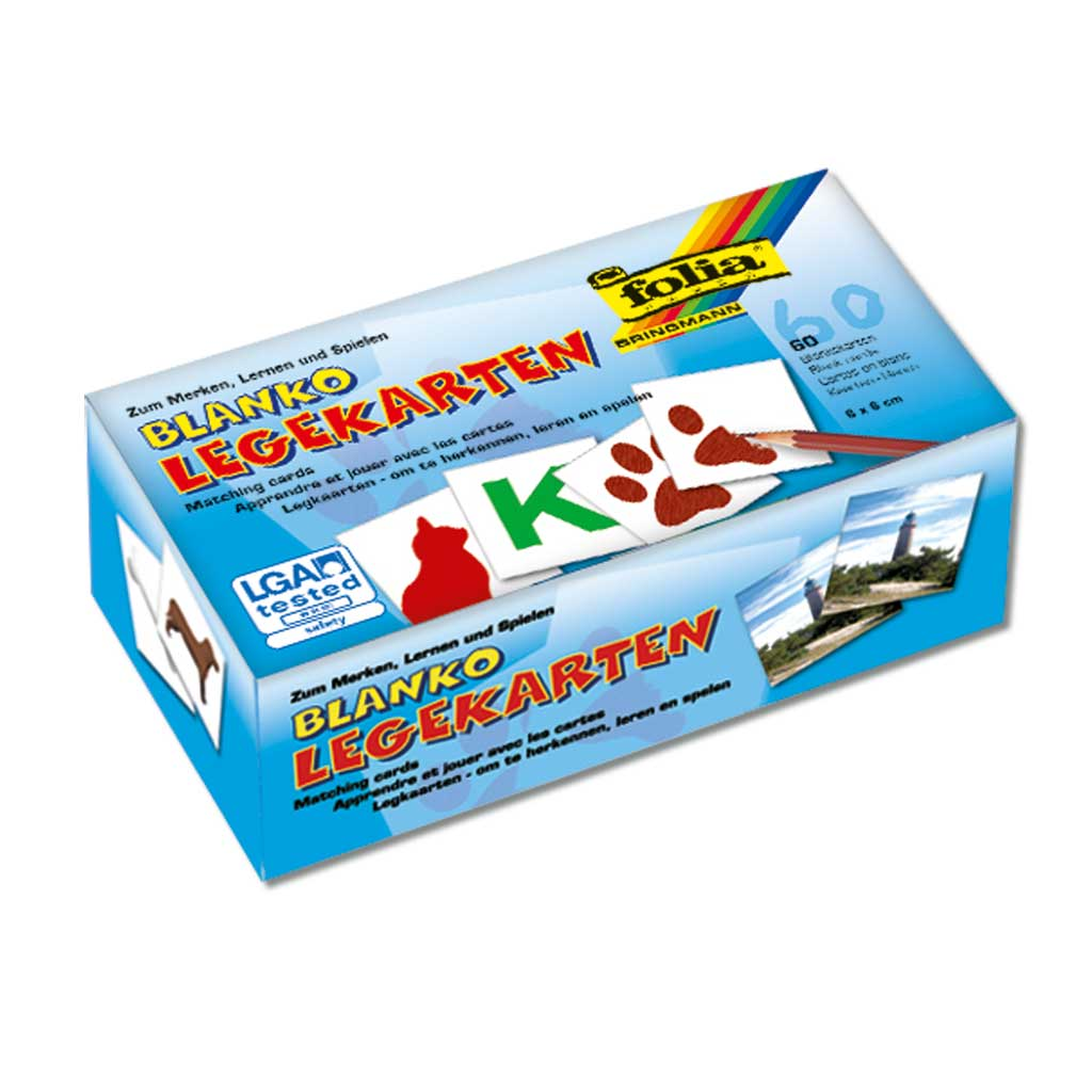 60 Blanko Memo-Spielkarten