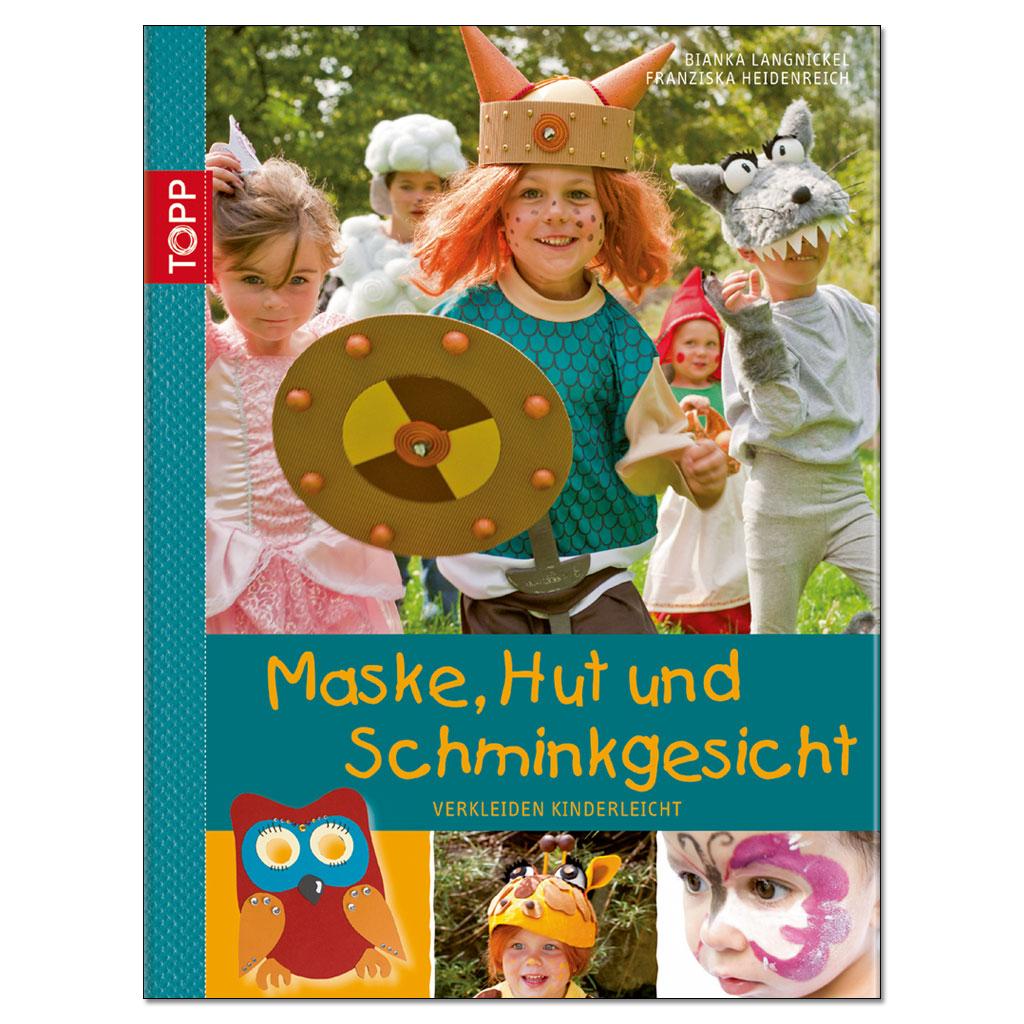 Maske, Hut und Schminkgesicht