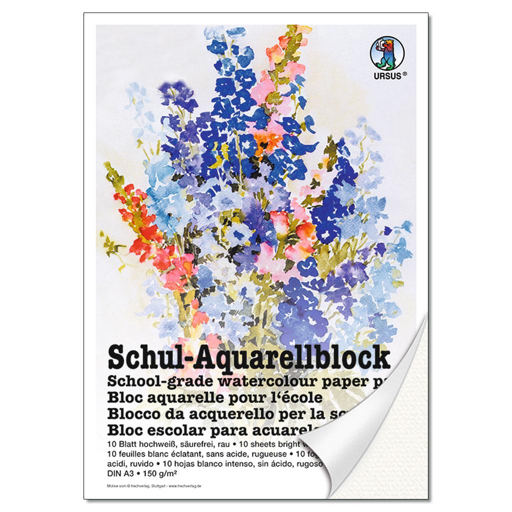 Schul-Aquarellblock - DIN A3