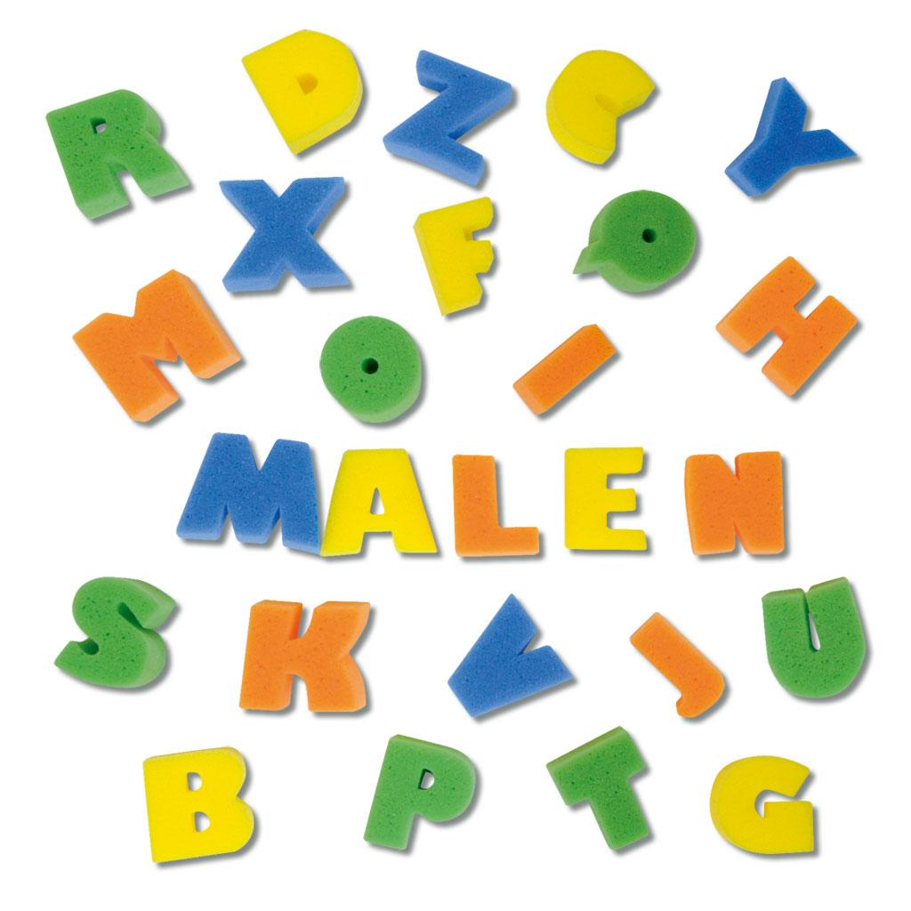 Malschwämme - Buchstaben