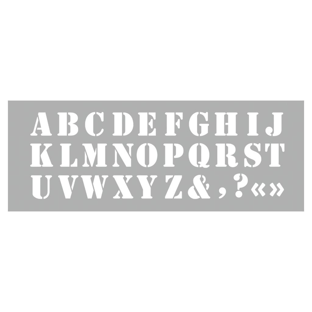 Schablonen - Alphabet Großbuchstaben