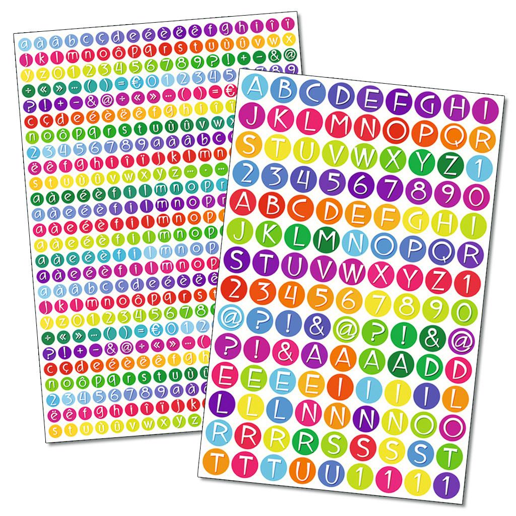 Sticker ABC und Zahlen