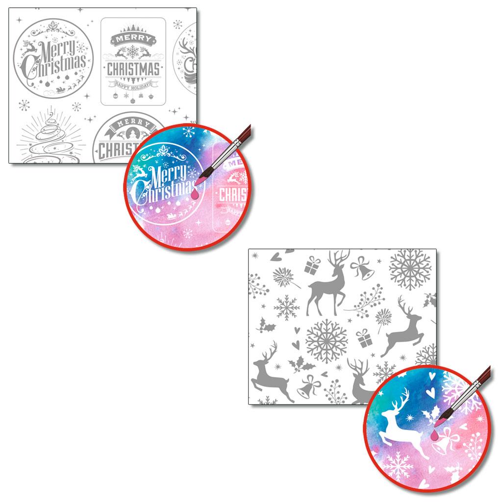 Zauberpapier-Mix Weihnachten 48 x 67 cm